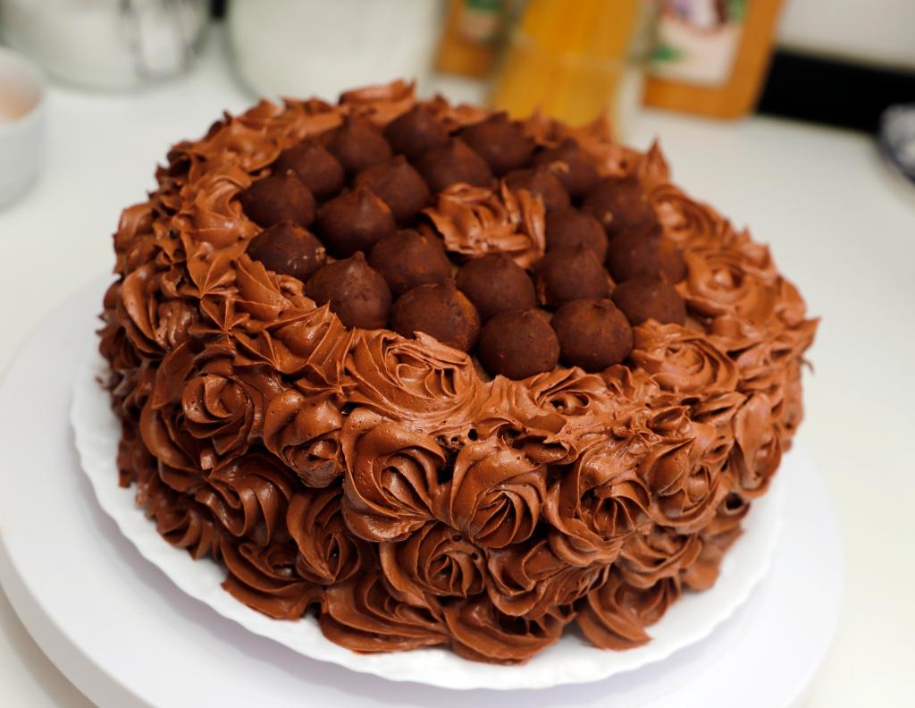 Tarta de chocolate y trufas