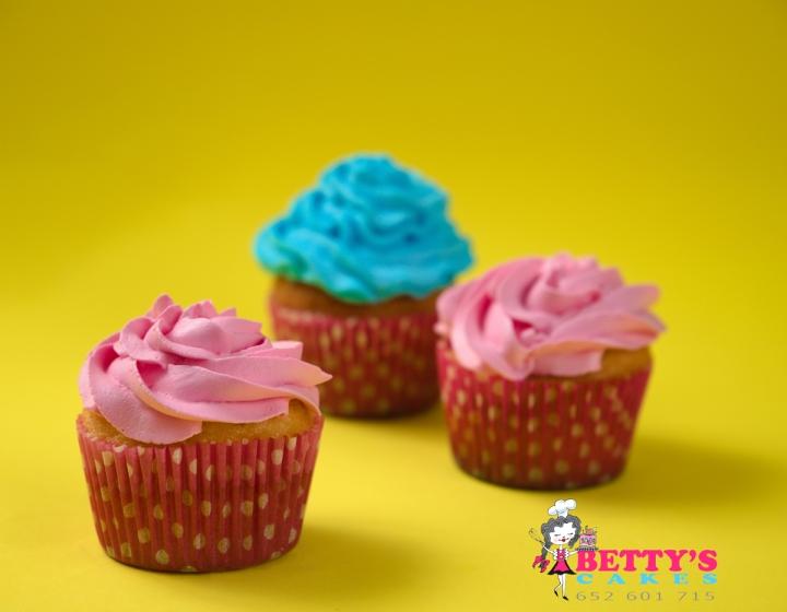 Cupcake con frosting de mantequilla