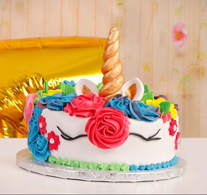 tarta de unicornio de fondant